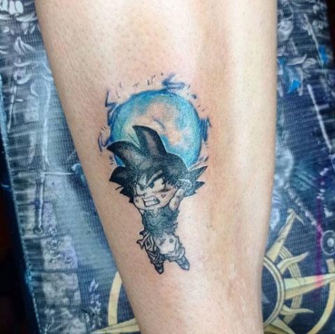 tatuaje de goku
