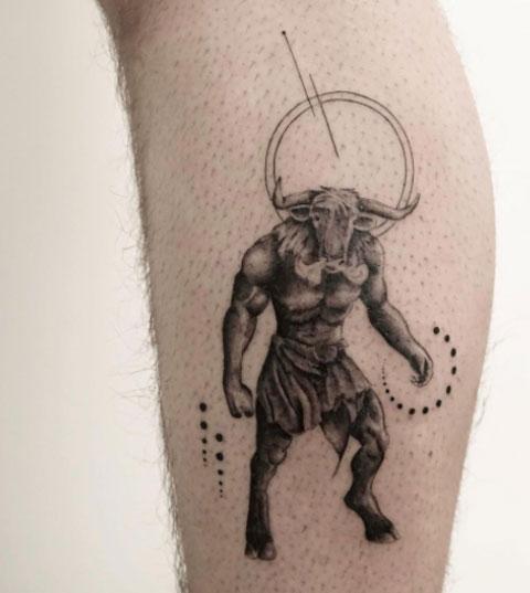 tatuaje de minotauros