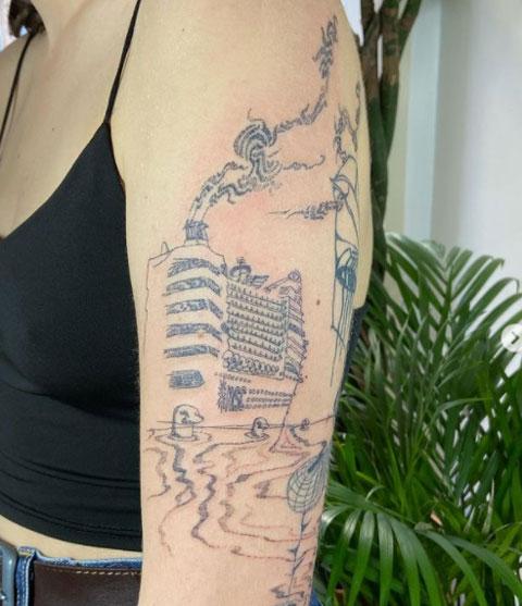 tatuaje de un crucero