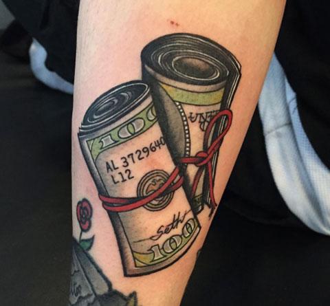 Tatuaje de Dinero