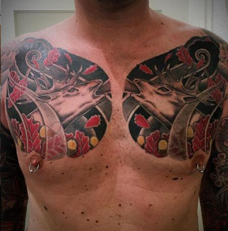 tatuaje estilo japones venados