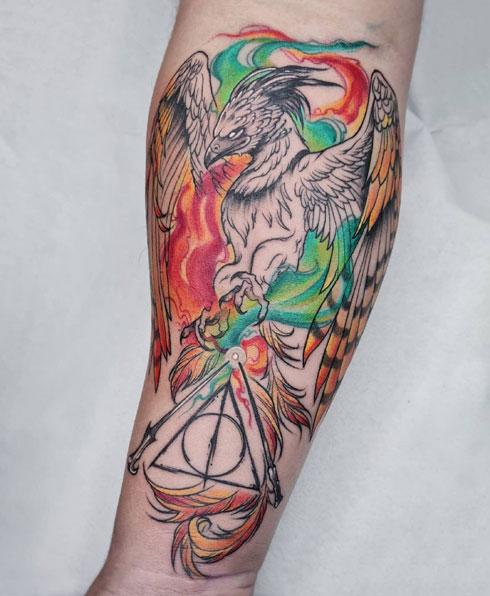 tatuaje grifo harry potter