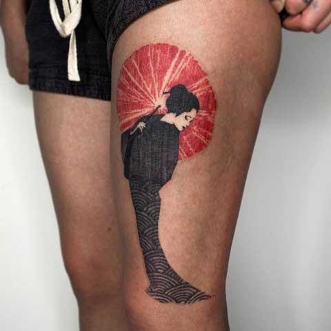 tatuaje japones geisha