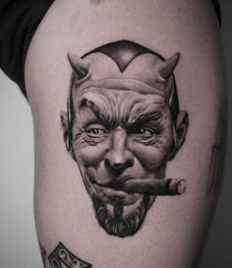 tatuaje realismo diablo