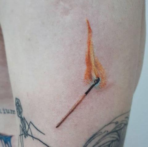 tatuaje realismo fosforo