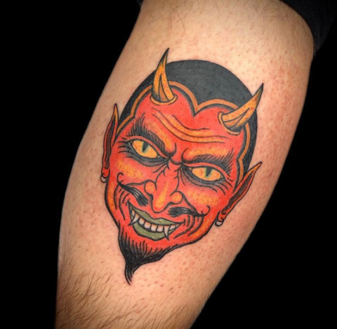 tatuaje rostro de diablo
