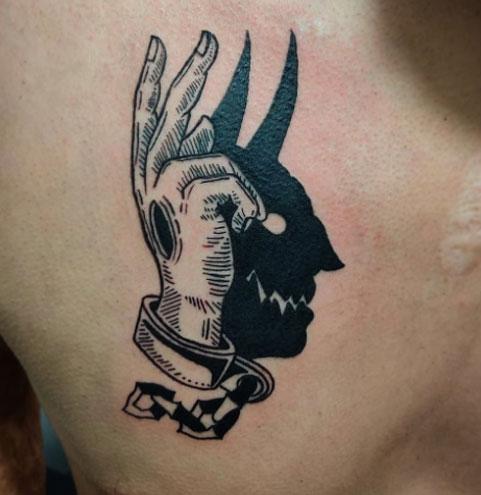 tatuaje sombra del diablo