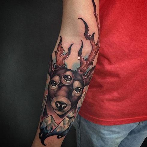 tatuaje venado 3 ojos