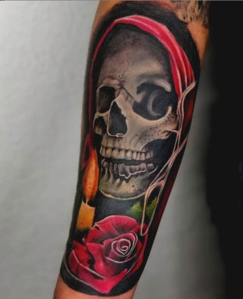 color tattoo santa muerte