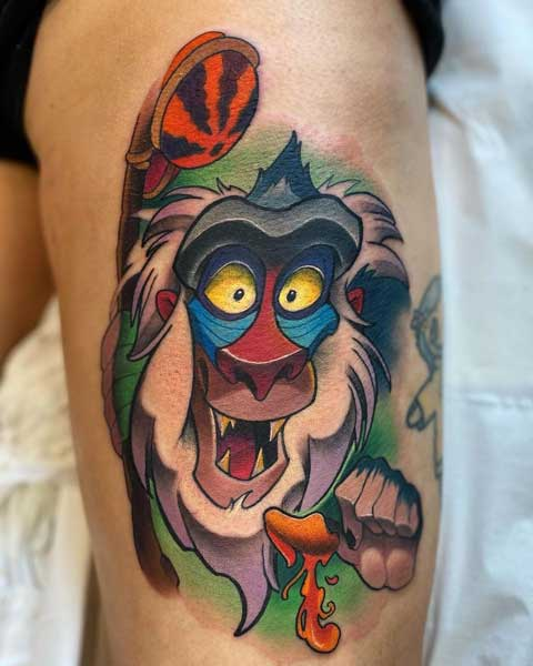 disney tatuaje rey leon