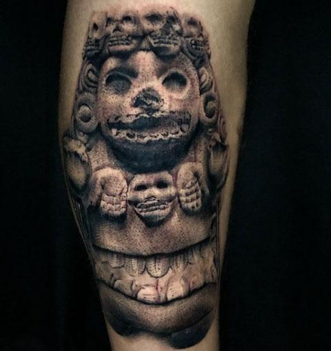 Tatuaje de Mictecacíhuatl