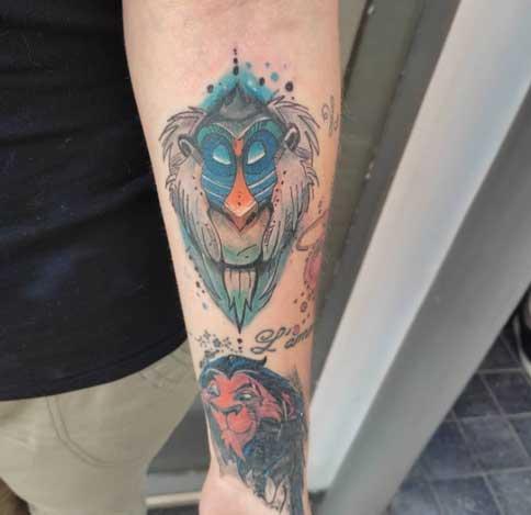 rafiki tatuaje color