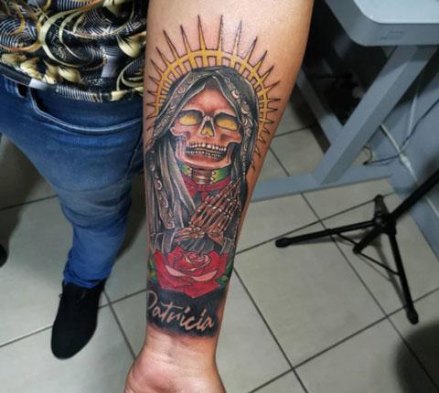 tattoo mexicano santa muerte
