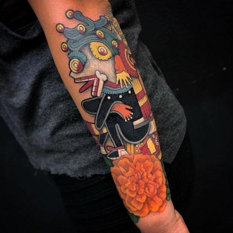 tattoo prehispanico