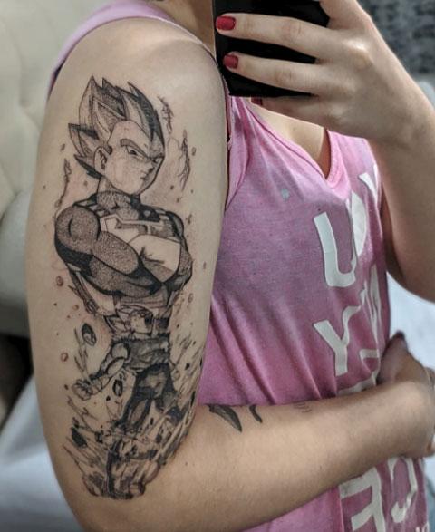 tattoo vegeta en brazo