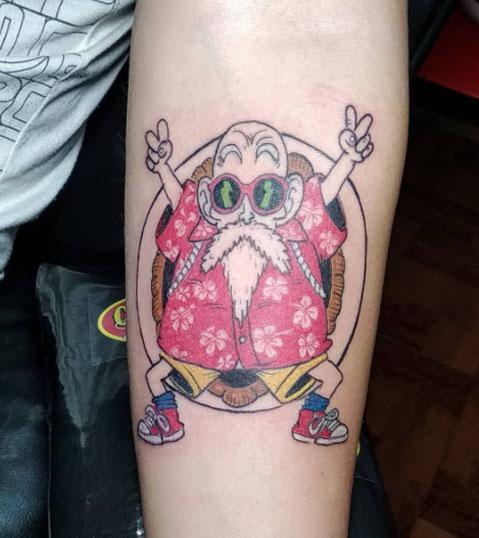 tatuaje color maestro roshi