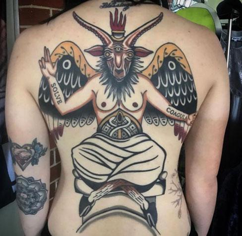 tatuaje de cabra satanica
