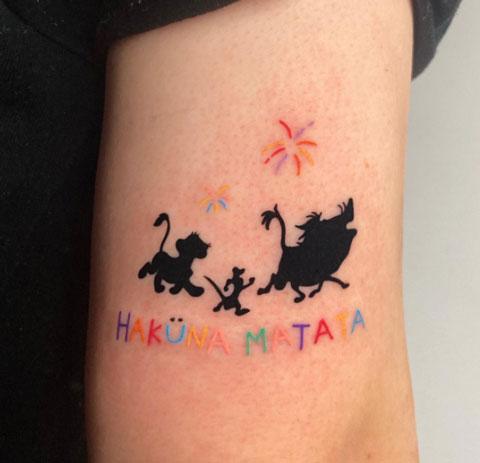 tatuaje de pelicula disney