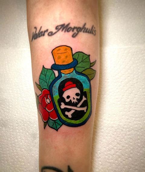 tatuaje de veneno