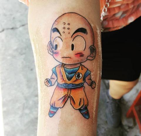 tatuaje dragon ball krillin
