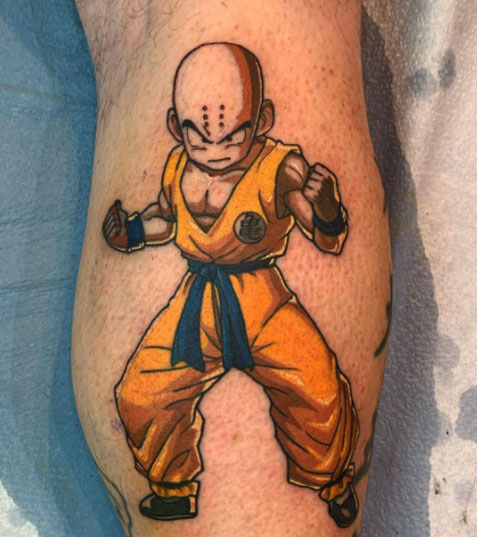 tatuaje krillin a color
