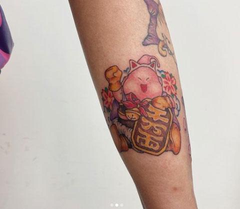 tatuaje majin buu personificado