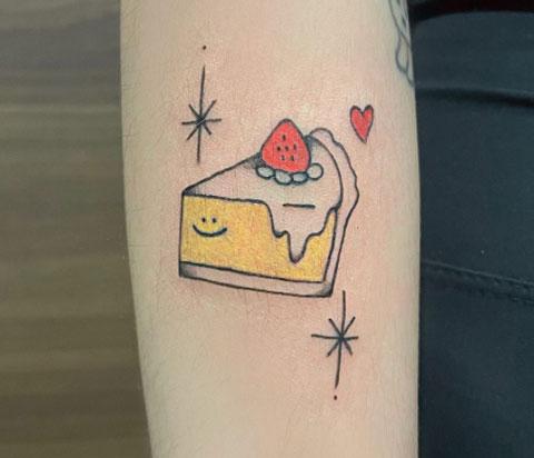 tatuaje rebanada de pay