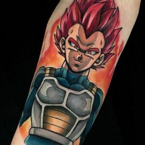 tatuaje vegeta