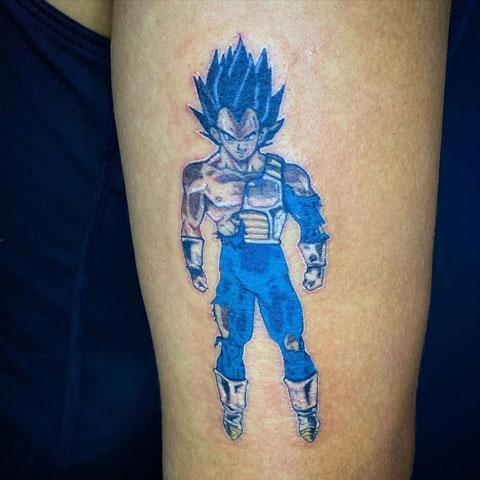 tatuaje vegeta azul