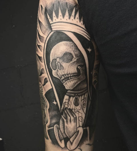 virgen santa muerte tattoo