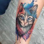 aquacolor tatuaje gato