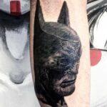 black tattoo batman
