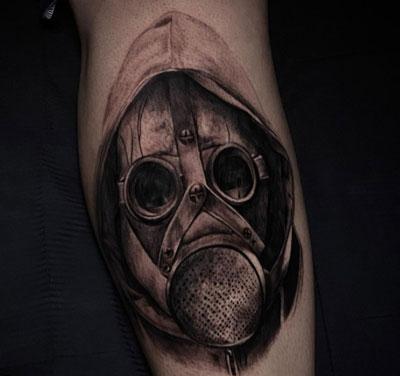 black tattoo mask
