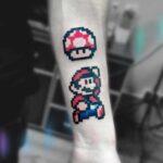 mario bros tattoo pixel