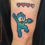 megaman tattoo pixel