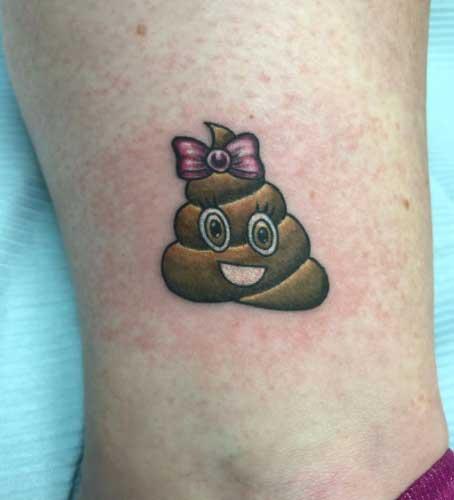 poope emoji tattoo