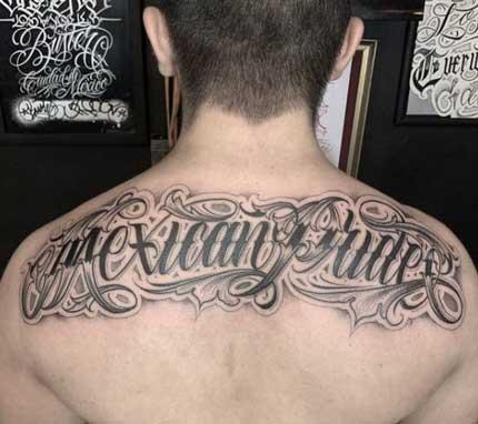 tattoo de letras