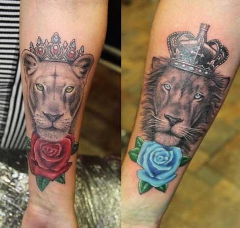 tatuaje leona y leon