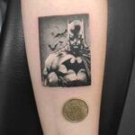 tatuaje pequeño de batman