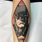 tatuaje rostro de batman