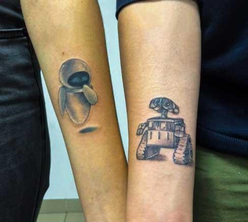 wall e tattoo