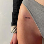 amore frase tattoo