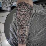 tema azteca tatuaje